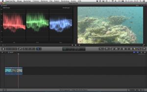 Unterwasservideo mit Rotfilter