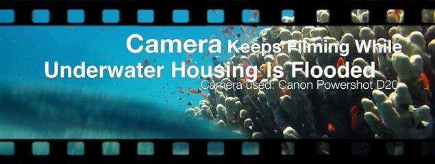 Filmen mit geflutetem Unterwassergehäuse