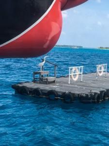 Tauchen auf Filitheyo Wasserflugzeug Plattform